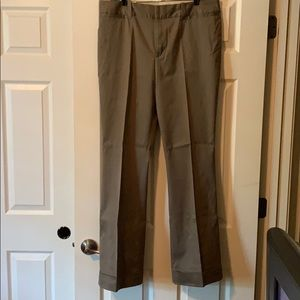 Banana Republic tan boot cut pants.